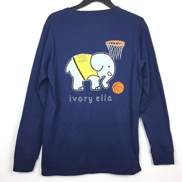8468cb3a310a ivory ella Tops - Ivory Ella Long Sleeve Shirt Elephant Basketball